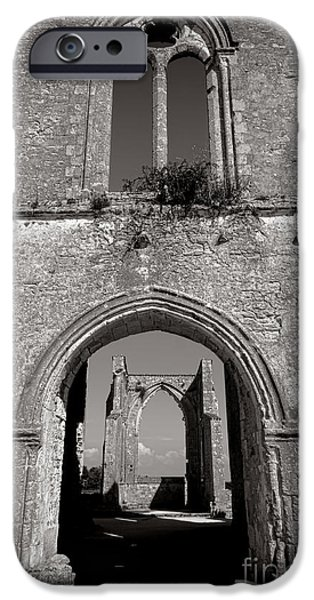 Medieval iPhone Cases - Abbey Ruin  iPhone Case by Olivier Le Queinec