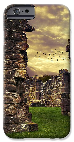 Abbey iPhone Cases - Abbey Ruins iPhone Case by Amanda And Christopher Elwell