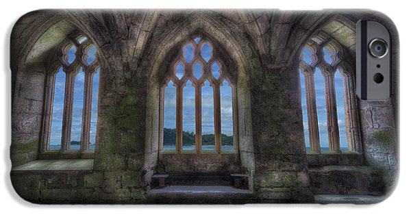 13th Century iPhone Cases - Abbey View iPhone Case by Adrian Evans