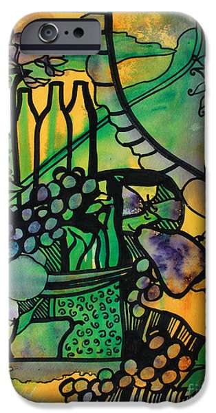 Table Wine Mixed Media iPhone Cases - Abbondanza iPhone Case by Catherine Sprague