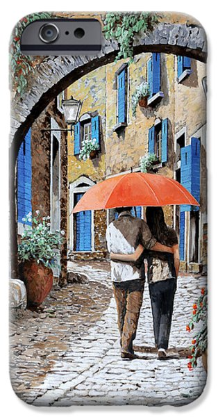 Dating iPhone Cases - Abbracciati Sotto Larco iPhone Case by Guido Borelli