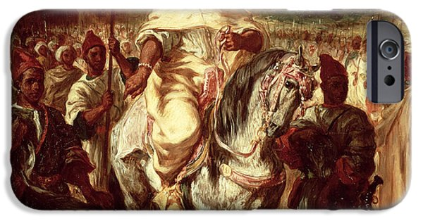 Orientalists Photographs iPhone Cases - Abd Ar-rahman, Sultan Of Morocco, 1845 Oil On Canvas iPhone Case by Ferdinand Victor Eugene Delacroix