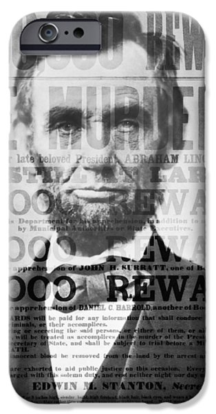 D.c. Digital iPhone Cases - Abe Lincoln Assassination Outrage iPhone Case by Daniel Hagerman