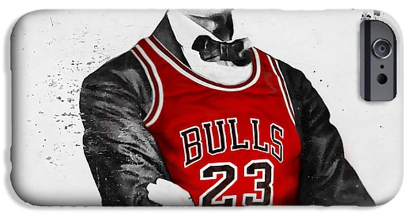 Chicago iPhone Cases - Abe Lincoln in a Bulls Jersey iPhone Case by Roly Orihuela