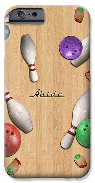 Jeff Bridges iPhone Cases - Abide 2w iPhone Case by Filippo B