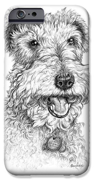 Fox Terrier iPhone Cases - Abigail iPhone Case by Catherine Garneau