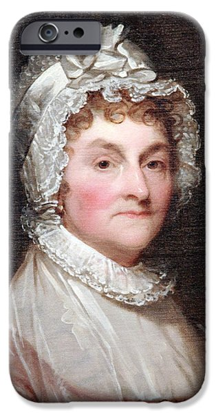 Abigail Smith Adams Up Close -- 1 iPhone Case by Cora Wandel