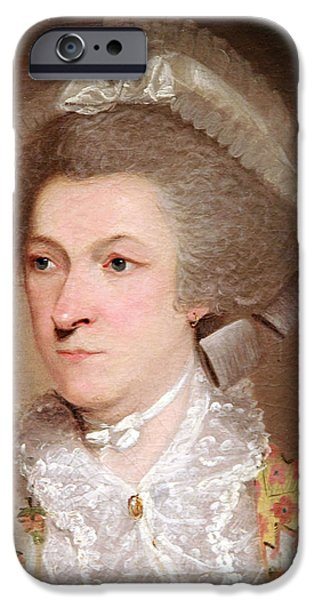 Abigail Smith Adams Up Close -- 2 iPhone Case by Cora Wandel