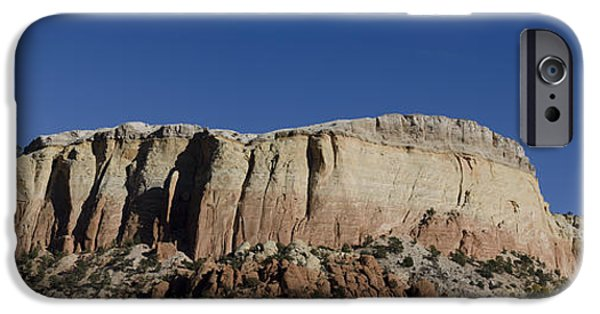 Ledge iPhone Cases - Abiquiu NM Panorama I iPhone Case by Dave Gordon