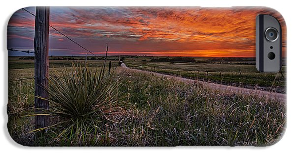 Farm iPhone Cases - Ablaze iPhone Case by Thomas Zimmerman