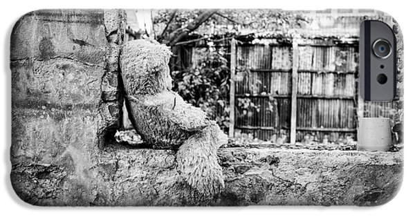 Abandonment iPhone Cases - Abandoned Teddy Bear I iPhone Case by Dean Harte