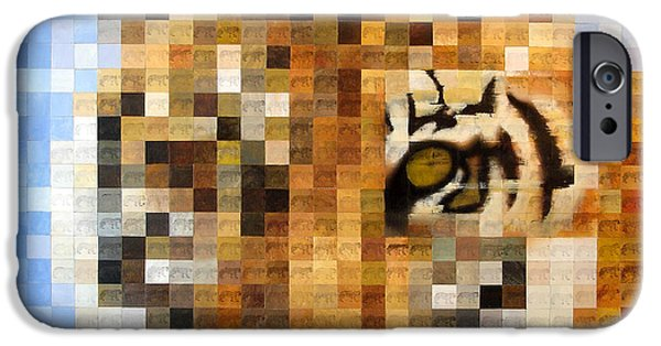 Mosaic iPhone Cases - About 400 Sumatran Tigers iPhone Case by Charlie Baird