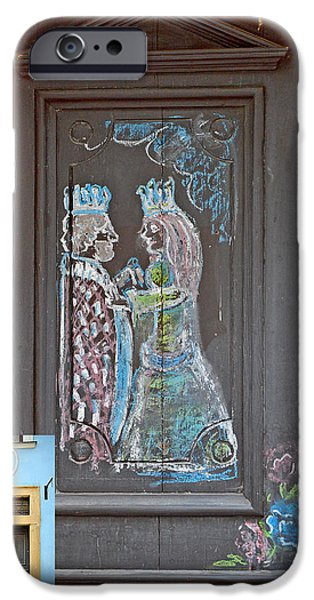 Charles Bridge Digital Art iPhone Cases - About Love. The door. Next to Charles Bridge. Prague. Czech Republic. iPhone Case by Andy Za