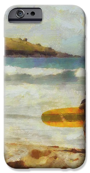 About to surf iPhone Case by Pixel Chimp