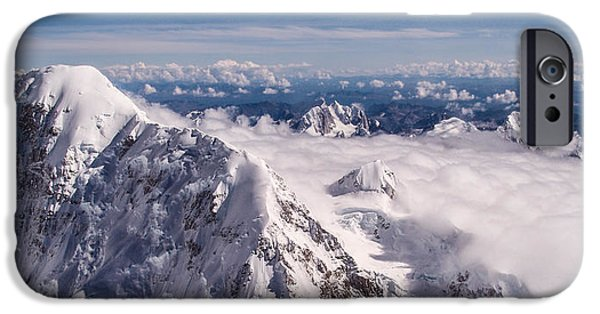 Majestic iPhone Cases - Above Denali iPhone Case by Chad Dutson