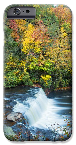 Fall iPhone Cases - Above Hooker Falls iPhone Case by Andres Leon