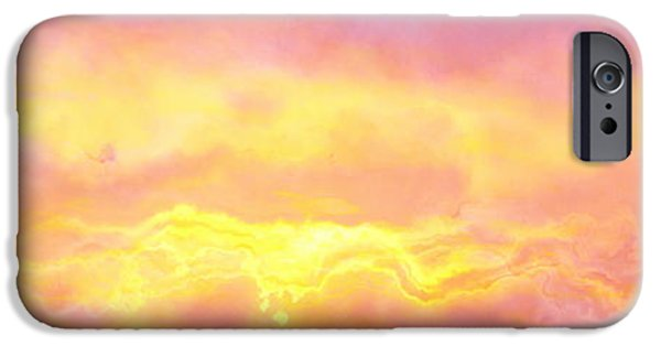 Sunset Abstract iPhone Cases - Above The Clouds - Abstract Art iPhone Case by Jaison Cianelli