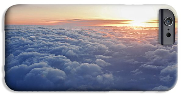 Window Cover iPhone Cases - Above the clouds iPhone Case by Elena Elisseeva