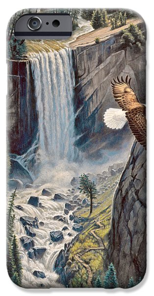 Recently Sold -  - Birds iPhone Cases - Above The Falls - Vernal Falls iPhone Case by Paul Krapf