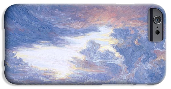 Horizon Paintings iPhone Cases - Above The Horizon iPhone Case by Lucie Bilodeau