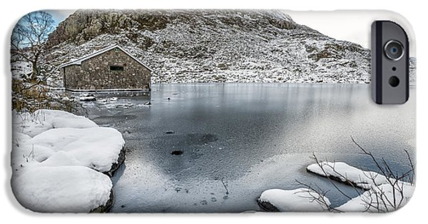 Winter Digital Art iPhone Cases - Above The Ice iPhone Case by Adrian Evans