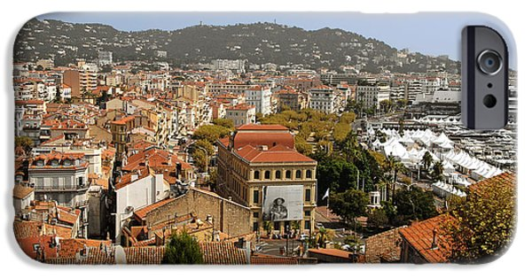 Interior Scene iPhone Cases - Above the roofs of Cannes iPhone Case by Christine Till