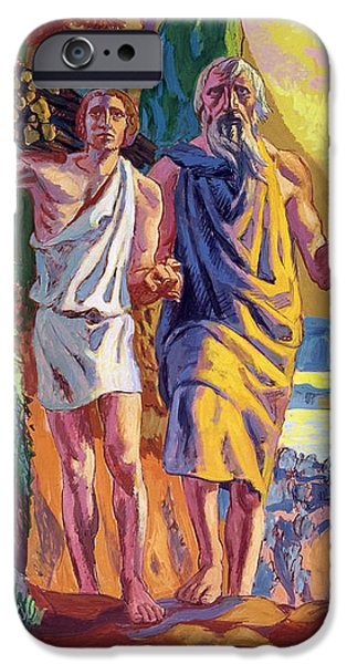 Sacrificial iPhone Cases - Abraham going to offer Isaac his son iPhone Case by Anonymous