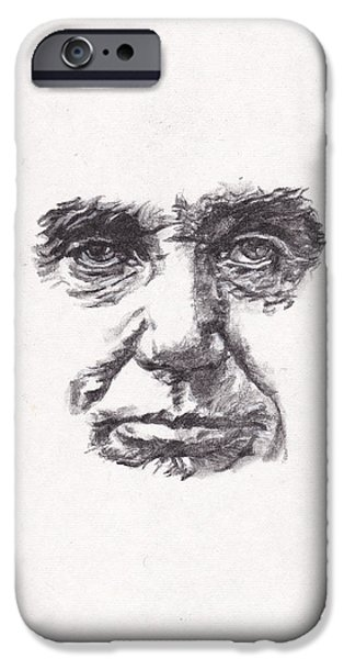 Lincoln Drawings iPhone Cases - Abraham iPhone Case by Lee Ann Shepard