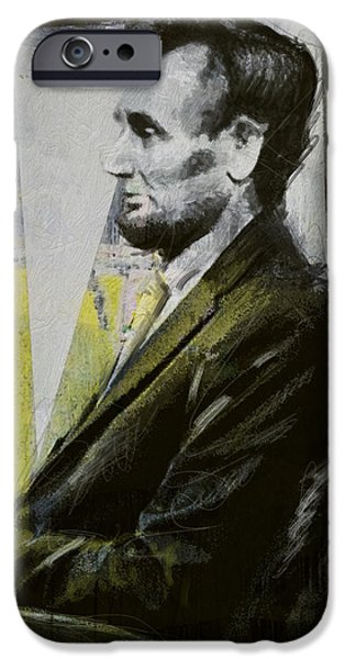 Lincoln iPhone Cases - Abraham Lincoln 03 iPhone Case by Corporate Art Task Force