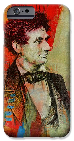 Lincoln iPhone Cases - Abraham Lincoln 04 iPhone Case by Corporate Art Task Force