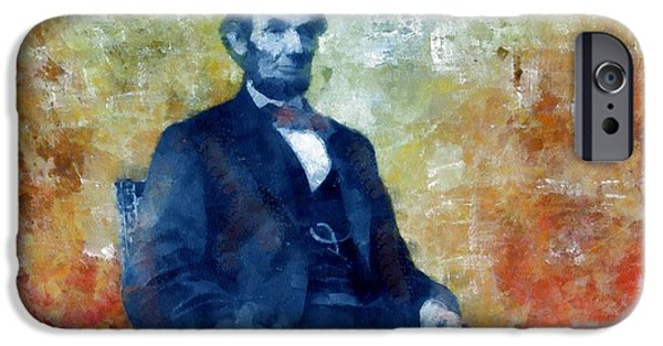 Politician iPhone Cases - Abraham Lincoln 16th President of the U.S.A. iPhone Case by Tyler Robbins