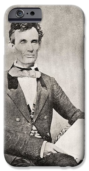 Lincoln iPhone Cases - Abraham Lincoln, 1809 – 1865, Seen Here In 1854.  16th President Of The United States Of America iPhone Case by Bridgeman Images