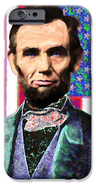 Abraham Lincoln 20130115 iPhone Case by Wingsdomain Art and Photography