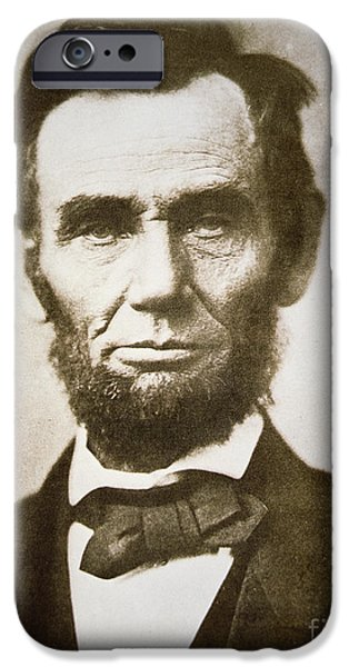 Politician iPhone Cases - Abraham Lincoln iPhone Case by Alexander Gardner