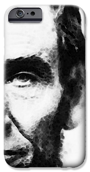 Lincoln Digital Art iPhone Cases - Abraham Lincoln - An American President iPhone Case by Sharon Cummings