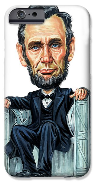 President iPhone Cases - Abraham Lincoln iPhone Case by Art