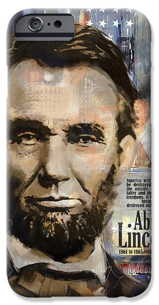 Politician iPhone Cases - Abraham Lincoln iPhone Case by Corporate Art Task Force