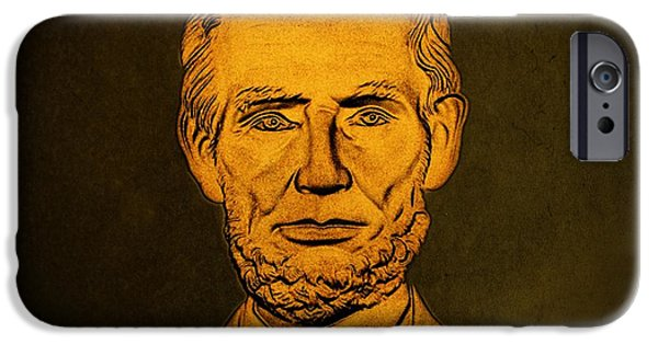 President iPhone Cases - Abraham Lincoln  iPhone Case by David Dehner