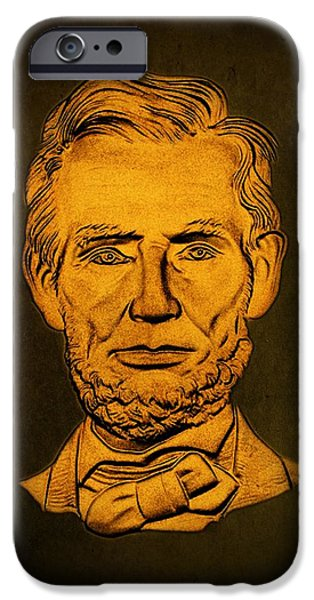 Abraham Lincoln  iPhone Case by David Dehner