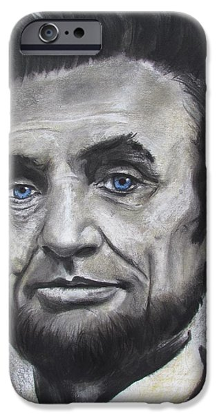 President Pastels iPhone Cases - Abraham Lincoln iPhone Case by Eric Dee