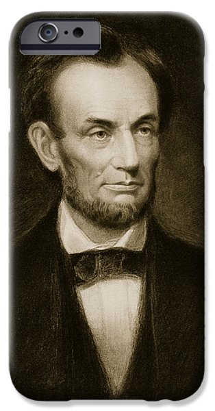 White House iPhone Cases - Abraham Lincoln iPhone Case by Francis Bicknell Carpenter