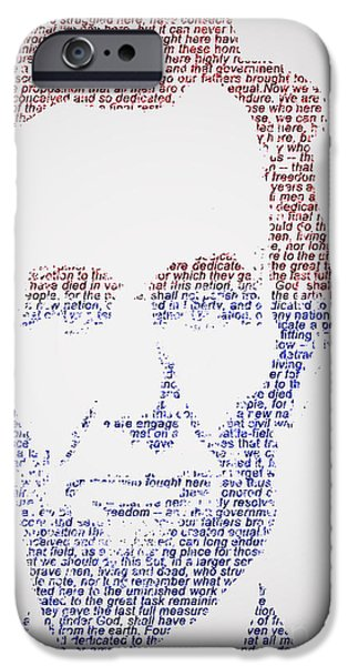Politician iPhone Cases - Abraham Lincoln  iPhone Case by Gary Keesler