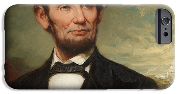 White House Paintings iPhone Cases - Abraham Lincoln  iPhone Case by George Henry Story