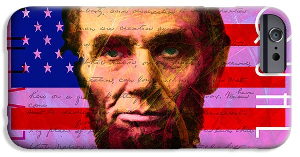 Gettysburg Address iPhone Cases - Abraham Lincoln Gettysburg Address All Men Are Created Equal 20140211m88 iPhone Case by Wingsdomain Art and Photography