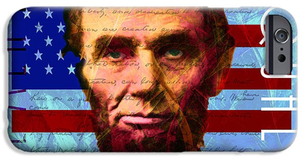 Gettysburg Address iPhone Cases - Abraham Lincoln Gettysburg Address All Men Are Created Equal 20140211p180 iPhone Case by Wingsdomain Art and Photography