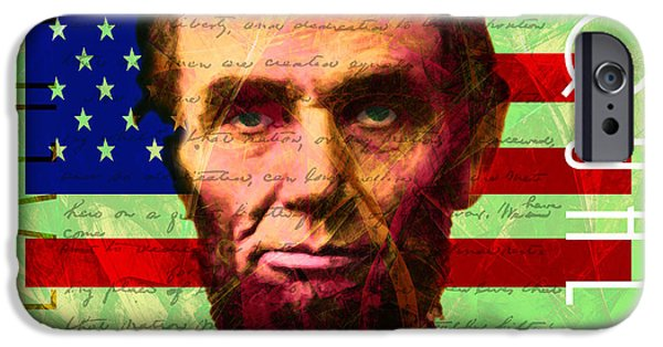 Gettysburg Address iPhone Cases - Abraham Lincoln Gettysburg Address All Men Are Created Equal 20140211p68 iPhone Case by Wingsdomain Art and Photography