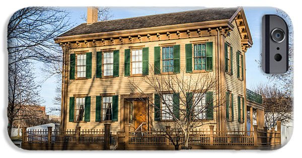 Historic Site iPhone Cases - Abraham Lincoln Home in Springfield Illinois iPhone Case by Paul Velgos