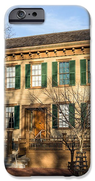 Abraham Lincoln Home in Springfield Illinois iPhone Case by Paul Velgos