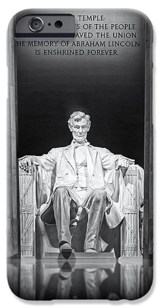Susan Candelario Photographs iPhone Cases - Abraham Lincoln Memorial iPhone Case by Susan Candelario