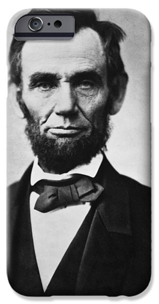 Politician Digital iPhone Cases - Abraham Lincoln iPhone Case by Nomad Art And  Design